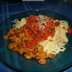 Angel Hair Pasta With Tomato Lemon and Garlic