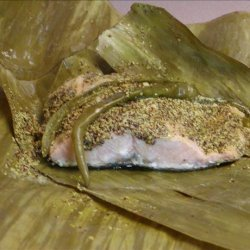 Fish steamed in Banana leaves