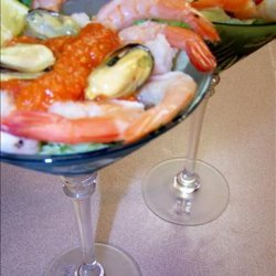 Seafood Salad Martini With Vodka Habanero Dressing