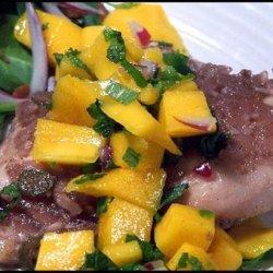 Spiced Rum-Sugar Chicken With Mango Mojito Salsa recipe