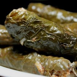 Mum's Dolmathes (Stuffed Grape Leaves) recipe