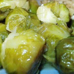 Cider Braised Brussels Sprouts