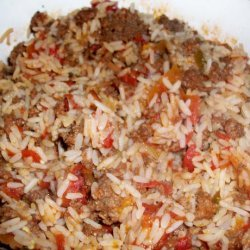 Spicy Rice With Ground Beef (One Dish Meal)