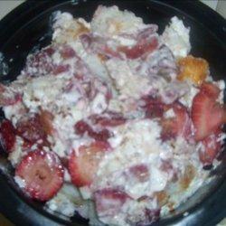 Strawberry Angel Food Trifle