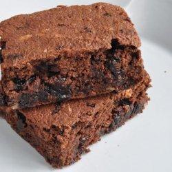 Okara Dark Chocolate Cherry Brownies recipe