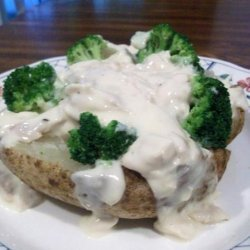 Chicken Broccoli Dinner in a Tater