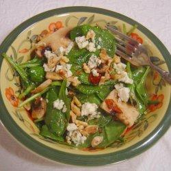 Spinach, Portabella, Bacon & Blue Cheese in Walnut Dressing