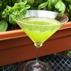 Muddled Basil Martini