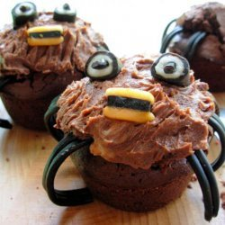 Spooky Spider Cupcakes/Muffins for a Howling Halloween! recipe