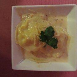Crab & Shrimp Ravioli With Saffron Cream Sauce