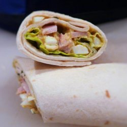 Curried Egg and Ham Wraps recipe