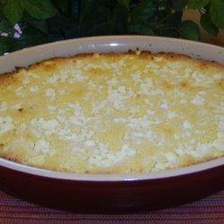 Greek Cornbread With Cheese - Bobota Me Tyri