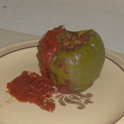 Oven Cook Bag Stuffed Bell Peppers