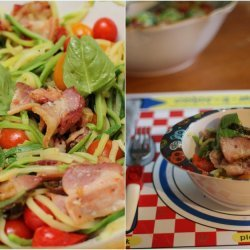Pasta With Zucchini, Tomatoes and Bacon