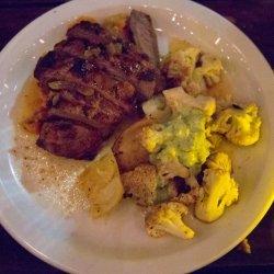 Sweet Potato Smothered Pork Chops