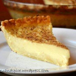 Honey custard pie