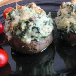 Crab Rockefeller Stuffed Mushrooms
