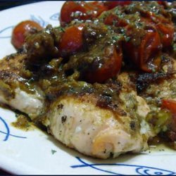 Pan-Seared Crusted Salmon With Cherry Tomato–ginger Sauce