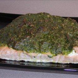 Salmon Crusted Pistachio Pesto