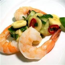 Thai Banana Salsa with King Prawns recipe