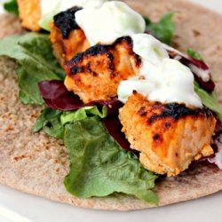 Succulent Salmon Wraps recipe