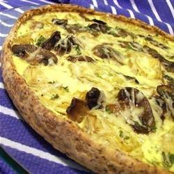 Artichoke, Mushroom and Parma Ham Tart