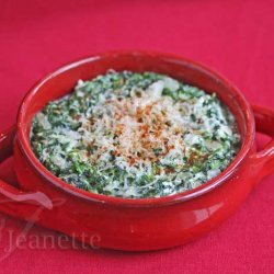 Healthier Hot Artichoke and Spinach Dip II
