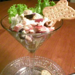 Crab with Stilton Cheese recipe