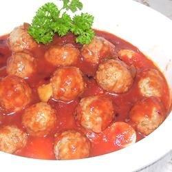 Slow Cooker BBQ Meatballs and Polish Sausage