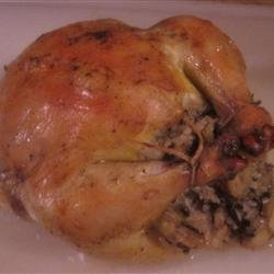 Cornish Game Hens with Rice Stuffing