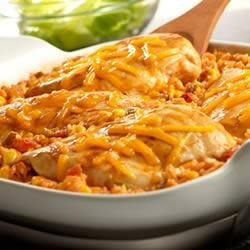 Tex-Mex Chicken and Rice Bake recipe