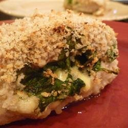 Gouda and Spinach Stuffed Pork Chops recipe