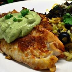Crispy Chipotle Lime Tilapia with Cool Avocado Sauce recipe
