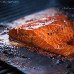 Planked Salmon With Honey Balsamic Glaze