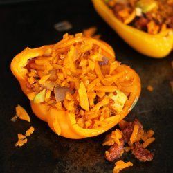Peppers Stuffed With Chorizo and Rice