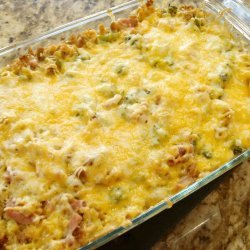 Broccoli, Ham & Cheese Strata