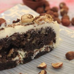 Chocolate and Hazelnut Brownie Cake