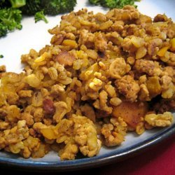 Mildly Curried Turkey Barley Dish (Rice Cooker)