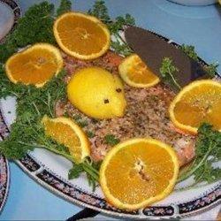 Orange Maple Glazed Baked Salmon