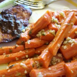 Steamed Carrots With Garlic-Ginger Butter (Weight Watcher Friend