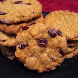 Macadamia Butter/Cranberry Cookies