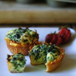 No Crust Mini Spinach Quiches