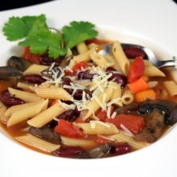 Red Bean Stew With Pasta (Pasta Fagioli)
