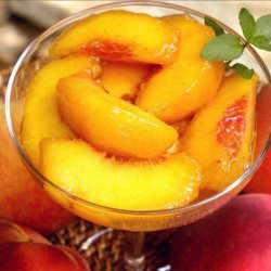 Peaches in Sauternes recipe