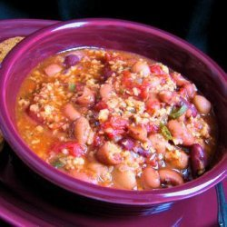 Low Fat Chili Made With Fat-Free Ground Turkey, 210 Calories Per