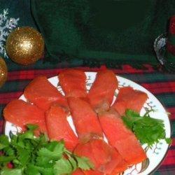 Danish Gravlaks (lox) Cured Salmon