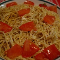 So Easy Ricotta and Fettuccine With Tomatoes