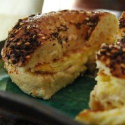 Yummy and Pretty Healthy Breakfast Bagel Sandwich
