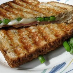 Lighter Grilled Swiss, Ham and Asparagus Sannie recipe