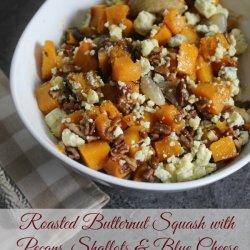 Butternut Squash With Pecans and Blue Cheese